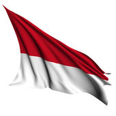 Monaco flag render illustration — Stock Photo
