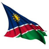 Namibia flag render illustration — Stock Photo