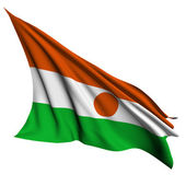 Niger flag render illustration — Stock Photo