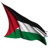 巴勒斯坦旗帜呈现图 — 图库照片