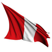 Peru flag render illustration — Stock Photo