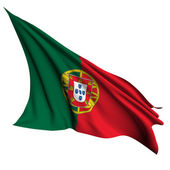 Portugal flag render illustration — Foto Stock