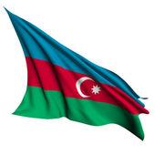 Bandera de Azerbaiyán render ilustración — Foto de Stock