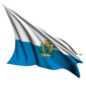 San Marino flag render illustration — Stock Photo