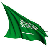 Saudi Arabia flag render illustration — Stock Photo