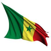 Senegal flag render illustration — Stock Photo