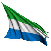 Sierra Leone flag render illustration — Stock Photo