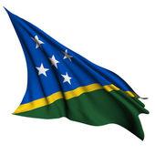 Flaga wysp salomona renderowania ilustracja — Zdjęcie stockowe