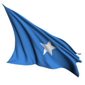 Somalia flag render illustration — Stock Photo