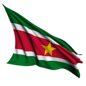 Suriname flag render illustration — Stock Photo