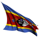 Swaziland flag render illustration — Stock Photo