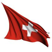 Switzerland flag render illustration — Stock Photo