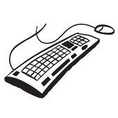 Computer keyboard — Stock Vector