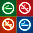Royalty-Free Stock Vector Image: Stickers set - No smoking area labels