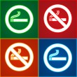 Stickers set - No smoking area labels — Stock Vector #11119760