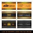 Stock Vector: Business card taxi - second set