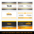 Business card taxi - first set - Image vectorielle