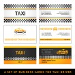 Business card taxi - first set - Stock Vector