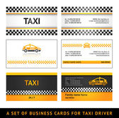 Business card taxi - first set — Stock Vector