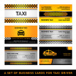 Stock Vector: Business card taxi - fourth set