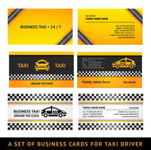 Business card taxi - third set card taxi templates — Stock Vector