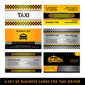 Business card taxi - fourth set — Vector de stock