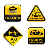 Taxi cab set labels — Stock Vector