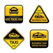 Taxi cab set labels — Stock Vector