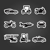 Set stickers transport icons — Stock Vector