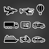 Set stickers transport — Stock Vector