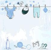 Babies scrapbook — Stock Vector