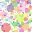 White square background with multicoloured bubbles — Stock Vector