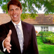 Stock Photo: Real Estate Salesman