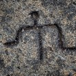 Hawaiian Petroglyphs — Stock Photo