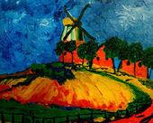 Větrný mlýn — Stock fotografie