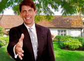 Real Estate Salesman — Stock Photo