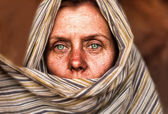 Woman of The desert — Stock Photo