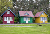 Three summer houses — Stock Photo