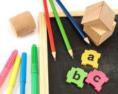 Pre okuldan araçları. — Stok fotoğraf