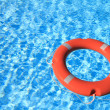 Life belt floating on water — Stock Photo