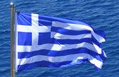 Griekse vlag — Stockfoto