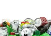Garbage isolated on white background — Stock Photo