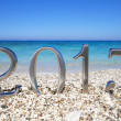 New year 2013 on the beach - Stock Photo