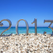 New year 2013 on the beach — Stock Photo
