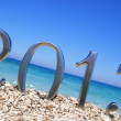 New year 2013 on the beach — Stock Photo #11623213