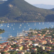 Nidri in Lefkada island, Greece - Stock Photo