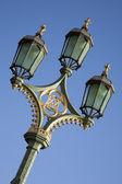 伦敦威斯敏斯特桥,灯柱 — 图库照片