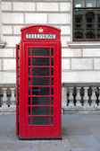Red Telephone Box, London — Stock Photo