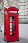 Caixa de telefone vermelho — Fotografia Stock