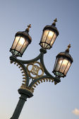 Poste de luz, ponte de westminster, londres — Foto Stock